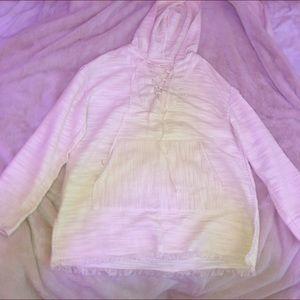 White/cream hoodie pullover